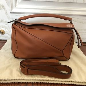 Calfskin Medium Puzzle Bag caramel